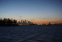 Ferry view skyline Sydney