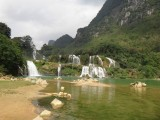 Thac Ban Gioc waterfall on the border of Vietnam and China