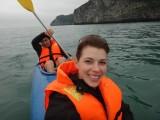 Kayaking through the karst of Halong Bay