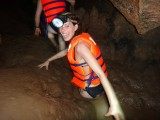 Struggling through the mud; Phong Nha Ke Bang NP