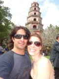 One of the Pagoda's in Hue; we went on a boat tour without bringing money with us...quite handy!