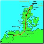 Jutland fietsroute