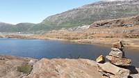 Trail naar svatisen glacier
