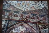 De binnenwanden van het paleis Shaki Khan.