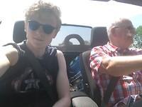Ruige jongens in de cabrio