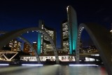 Prachtige nacht op Nathan Phillips Square