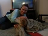 Knuffelen met Mara