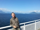 Genieten van de zon op de veerboot