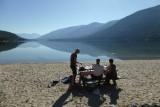 Ontbijt aan het Kootenay Lake