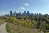 Uitzicht over Calgary vanaf het McHugh Bluff Park