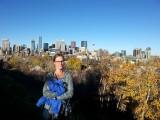 Uitzicht op Calgary vanaf villawijk