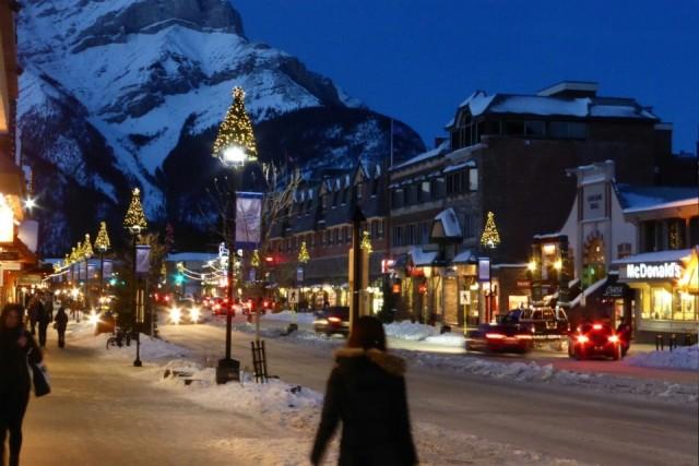 Kerstsfeer in Banff
