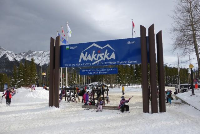 Skien en boarden in Nakiska!