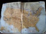 Kaart Noord-Amerika, hmmm waar zijn we allemaal geweest...