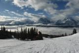 Uitzicht skigebied Lake Louise