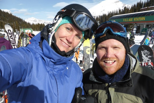 Zus en broer in Sunshine Village