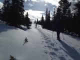 Snowshoeing, wat een tocht, gaaf.