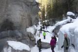 Ice Walk, normaal raast hier een kolkende rivier