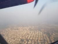 luchtzicht Dhaka, stad met +/-9 mln inwoners (niemand weet het precies)