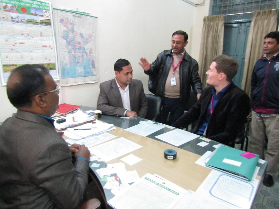 Interview samen met collega's van partnerorganisatie