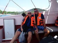 Met Jos in de speedboot...