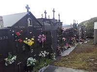 Spaanse begraafplaats,  hier worden ze erin geschoven.