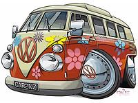 VW camper cartoon 1