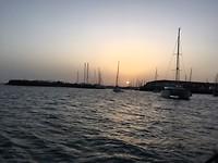 eindelijk weer een zonsondergang