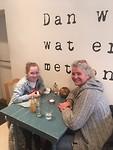lunchen met Chelsey bij Lente