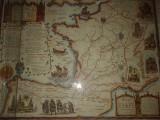 een prachtig oude landkaart van de routes naar santiago de Compostella