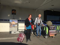 Aankomst Airport Melbourne om met al onze bagage te vertrekken naar Guangzhou/Amsterdam