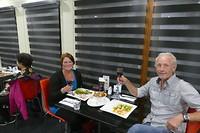 Als troost gezellig in het restaurant van het Quality motel in Melbourne