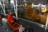 Vertrekhal Guangzhou in China. Na 9 uur en 40 min vliegen goed aangekomen.