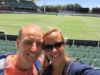 Selfie in de Adelaide Oval