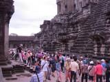 wachtrij in Angkor Wat