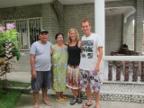 family that invited us and take very good care of us in oslob!