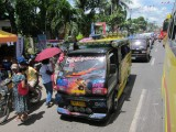 colorfull busses or jeepneys in cebu