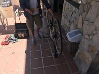 Geknutsel met de fiets