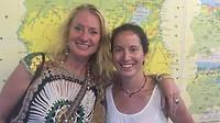 Samen met Lionne Grootjen ( mijn oude leerling) op de foto in het muntmuseum.