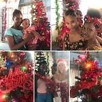 De kerstboom samen opgetuigd . Was reuze leuk !
