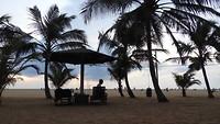 Het strand in Negombo voor ons hotel.