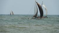 Garnalen vissers vroeg in actie.