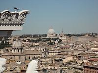 Uitzicht over Rome vanaf monument