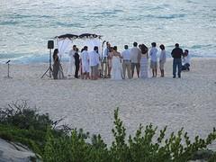 Bruiloft op strand