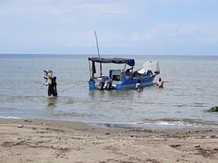 Vrachtboot naar een eiland