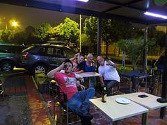 Aan het bier met Colombianen