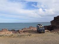 Aan de kust in Puerto Deseado