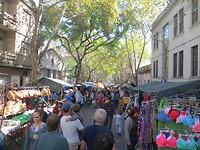 Montevideo, zondagsmarkt