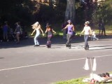 Rollerblading in the park