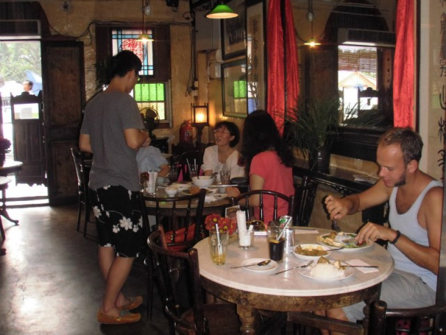 Eten in old china cafe in KL